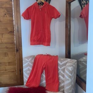 Juicy Couture Sz Youth 12 Terry Hoodie Track Suit